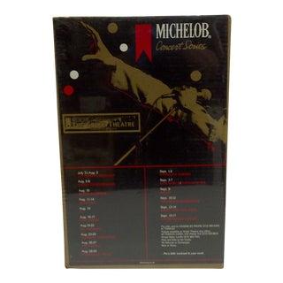 "Circa 1981 Vintage ""Michelob Concert Series"" Poster"