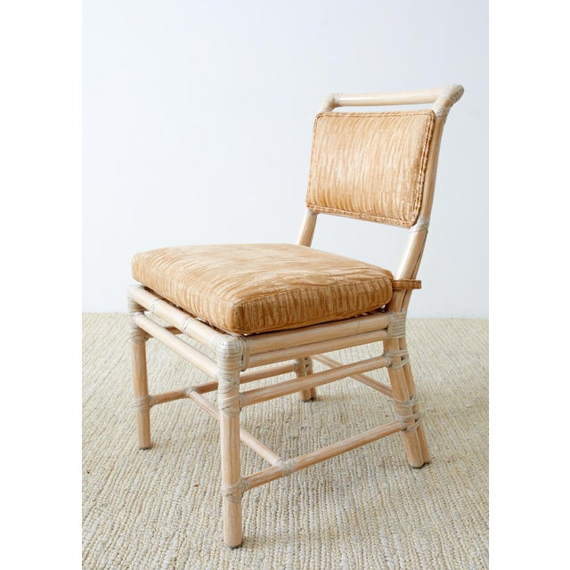 Contemporary McGuire Cerused Rattan Dining Chairs- Set of 9 For Sale - Image 3 of 13