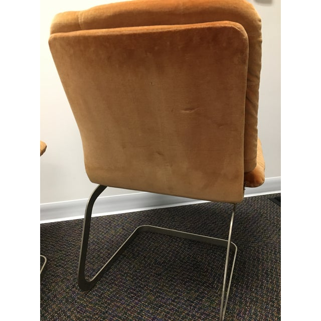 Cotton 1970s Vintage Roche-Bobois Cantilevered Chairs- Set of 4 For Sale - Image 7 of 12