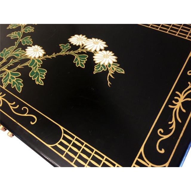 1970s Chinoiserie Lacquered Chest For Sale - Image 9 of 11