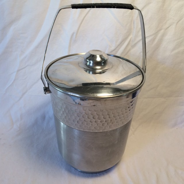 This vintage Nasco ice bucket has a ding in lid two small dents and a scratch in the bottom this would be a great one for...