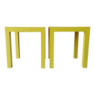 Vintage Modern Parsons Side Tables - a Pair For Sale