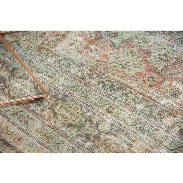 "1950s Vintage Distressed Mahal Carpet - 10'5"" X 13'11"" For Sale - Image 5 of 13"