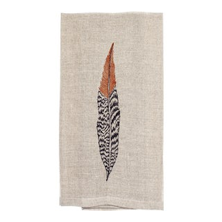 Pheasant Feather Tea Towel For Sale