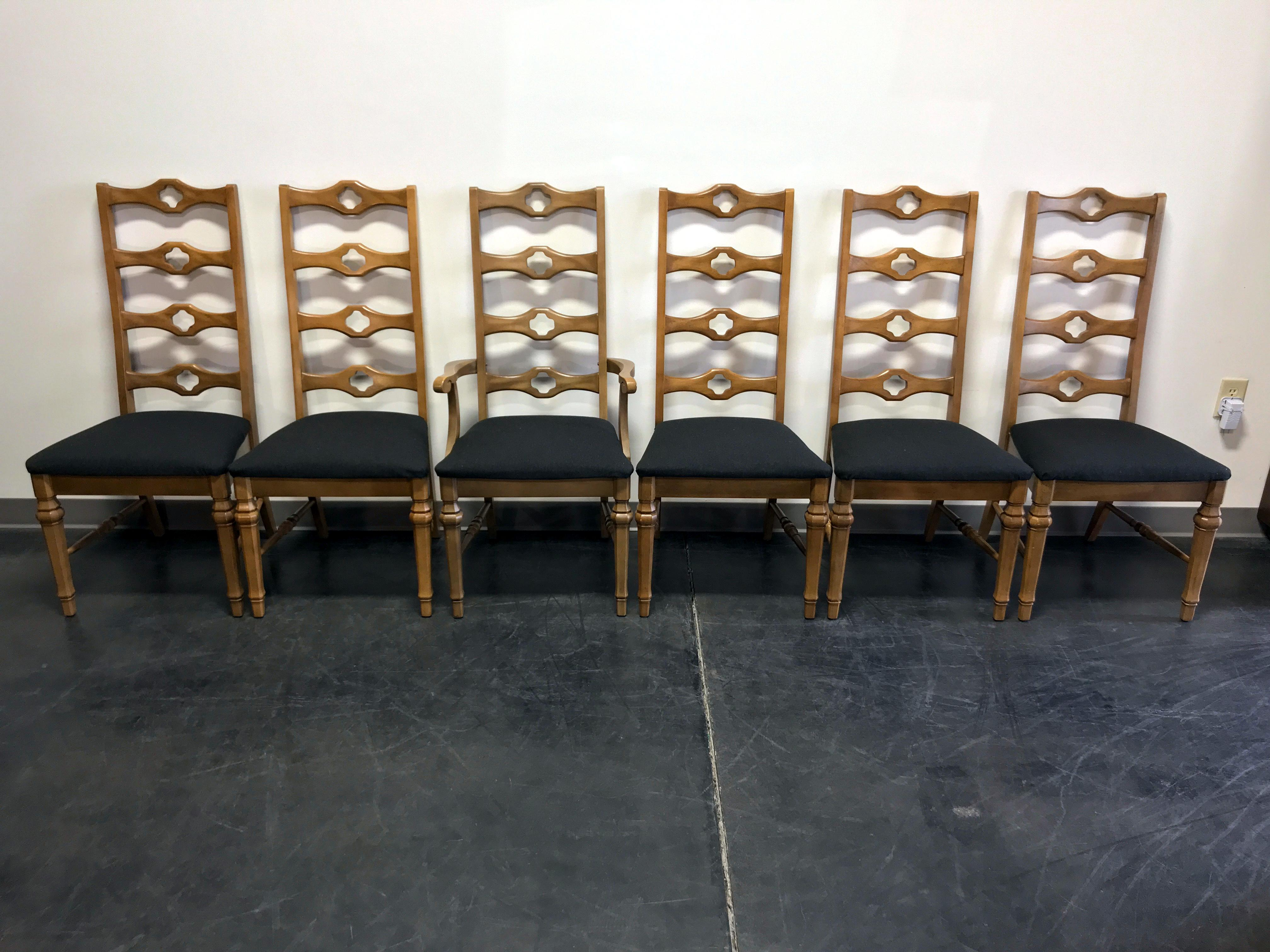 1960u0027s Cottage Style Ladder Back Dining Chairs By Stanley   Set Of 6    Image 2