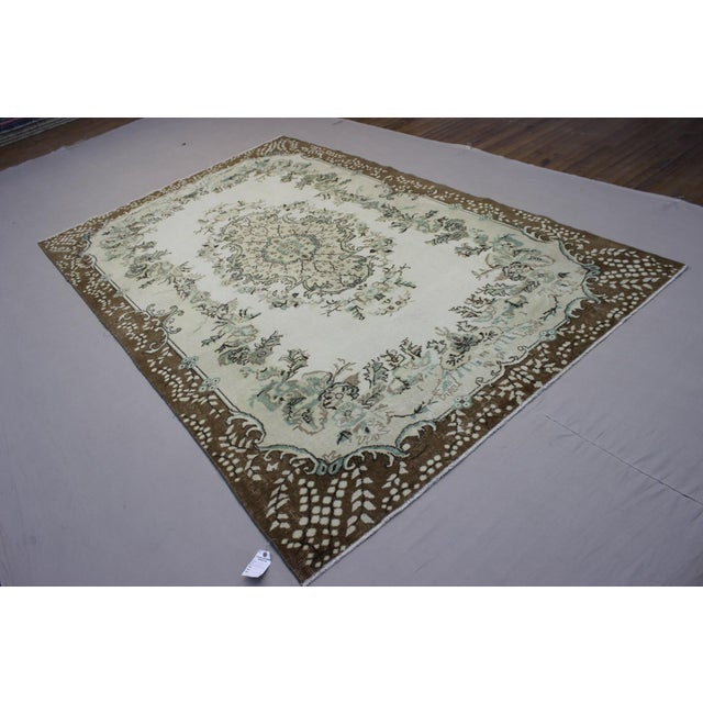 Hand Woven Overdyed Vintage Rug - 6′8″ × 10′4″ - Image 4 of 6