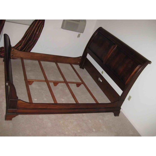Somerset Ethan Allen King Sleigh Bed. It has a beautiful deep finish and very elegant looking. Also, the set is available...