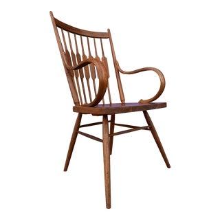Mid Century Walnut Single Dining Arm Chair by Kipp Stewart for Drexel , 1960s For Sale