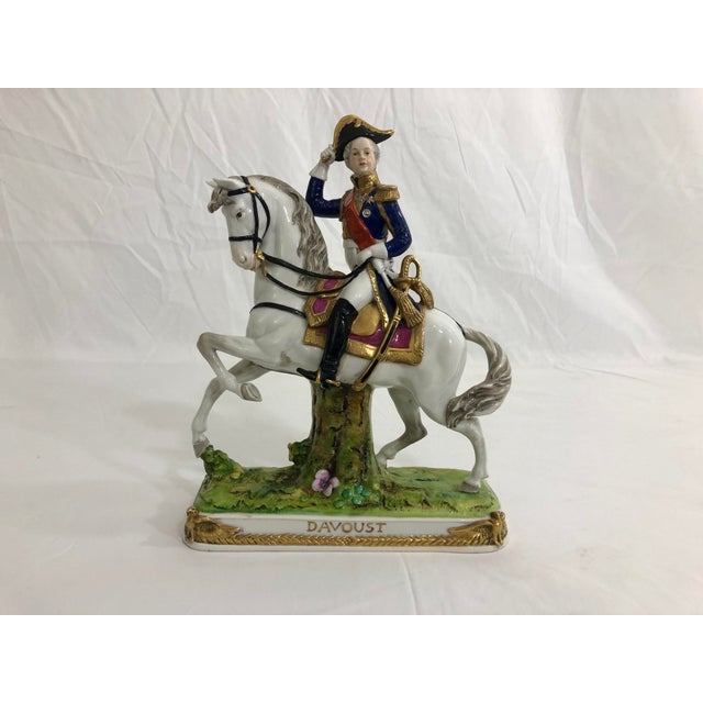 White German Porcelain Statue of Napoleonic General Davoust For Sale - Image 8 of 8