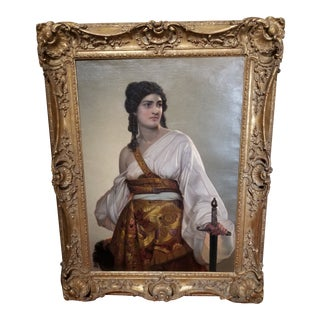 """August Heinrich Riedel """"Judith"""" Painting For Sale"""