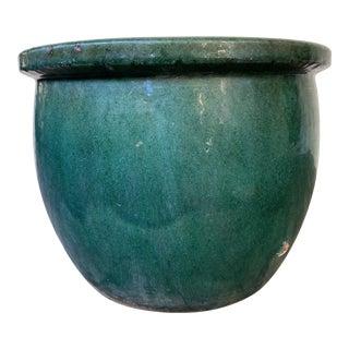 Deep Green Glazed Planter For Sale