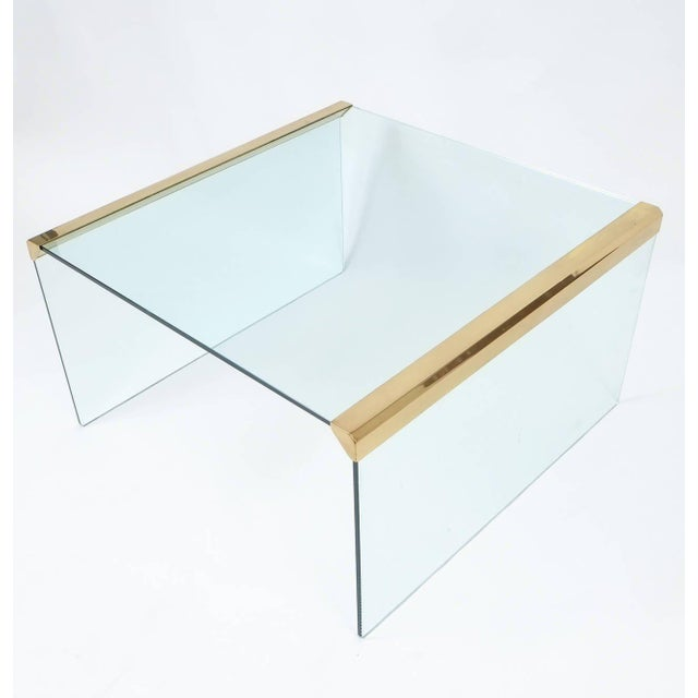 Modern Italian Clear Glass Coffee Table by Pierangelo Galotti for Galotti & Radice,1970 For Sale - Image 3 of 6