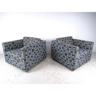 Pair of Knoll Lounge Chairs After Charles Pfister Preview