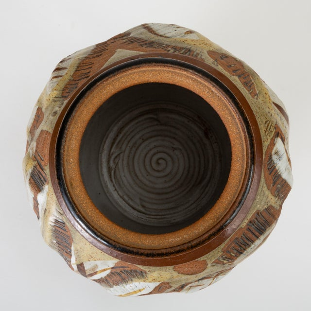 Ceramic California Modern Large Studio Pottery Jar With Lid by Don Jennings For Sale - Image 7 of 13