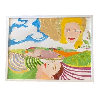 """On the Farm"" Contemporary Surrealist Figurative Print For Sale"