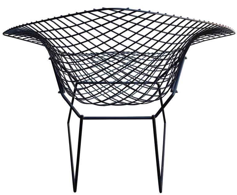 Mid Century Modern Mid Century Harry Bertoia Diamond Chair And Ottoman For  Knoll For