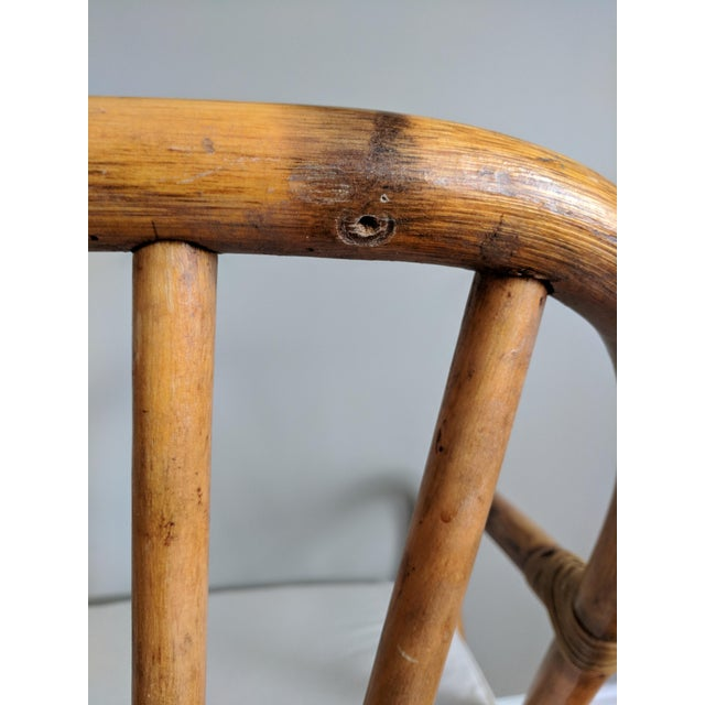 Bamboo Swivel Bamboo Armchairs - Set of 4 For Sale - Image 7 of 13