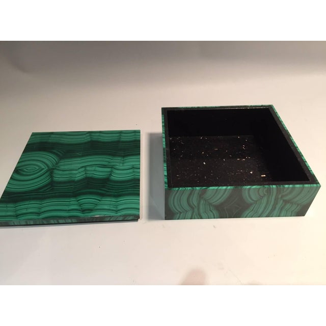 The malachite for this box was sourced from the Congo, where the finest quality of this mineral is currently found. The...