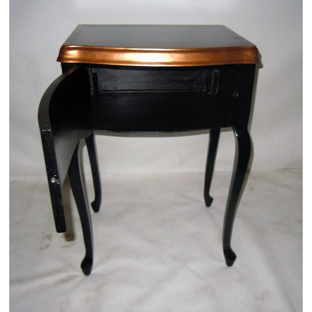 30s Mid Century Ebony Side Table - Image 3 of 8