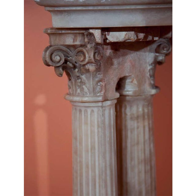 Neoclassical Alabaster Column Console For Sale - Image 5 of 7