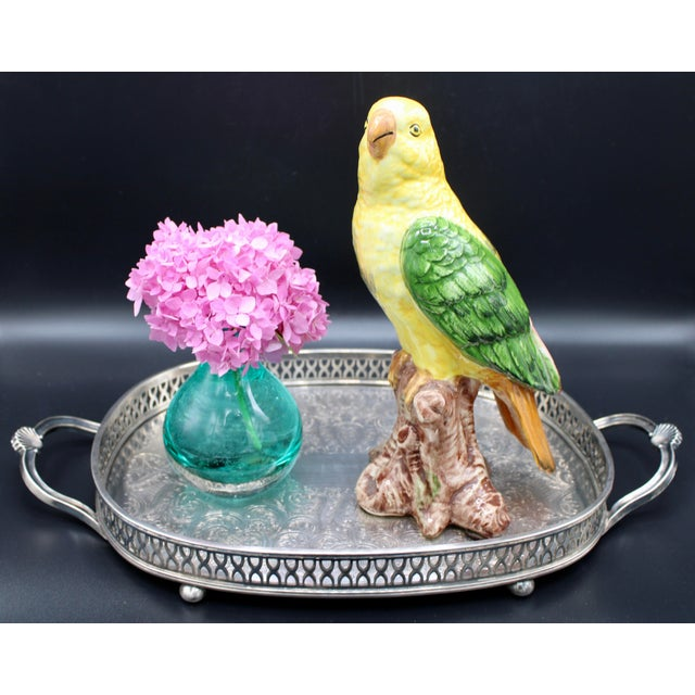 "A superb vintage Italian parrot, circa 1960. ""Made in Italy"" on the base. Excellent Condition"