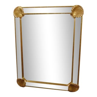 LaBarge Regency Style Shell Mirror For Sale