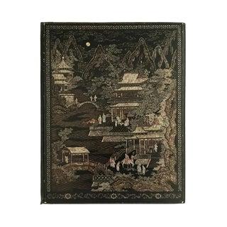 Antique French Napoleon III Papier Mache Chinoiserie Writing Desk Blotter Folio / Document Folder For Sale