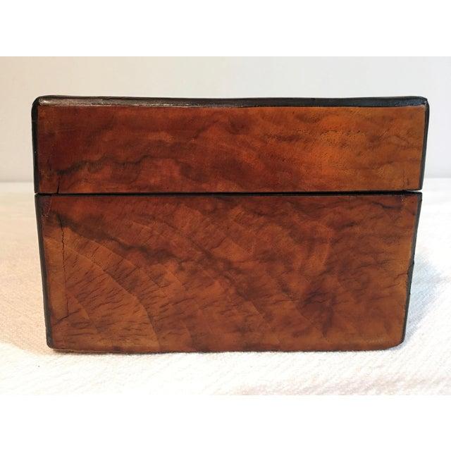 Antique Burl Oak & Inlaid Wood Trinket Box - Image 7 of 11 - Antique Burl Oak & Inlaid Wood Trinket Box Chairish