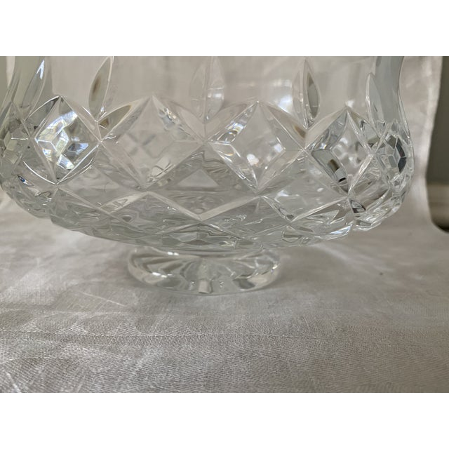 Contemporary Waterford Crystal Footed Bowl, Lismore Pattern For Sale - Image 3 of 8
