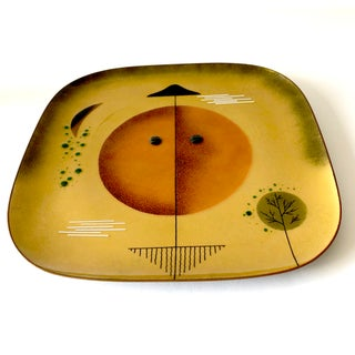 Miguel Pineda Mexican Modern Abstract Copper Enamel Plate Charger Preview
