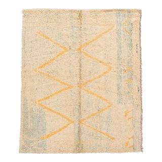 Mid-20th Century Vintage Moroccan Rug 6 X 7 For Sale