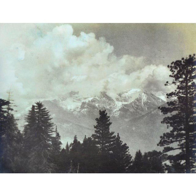 """Impression of the High Sierras"" a Lithobrome Photograph by Sigismund Blumann (American, 1872-1956). Signed ""Sigismund..."
