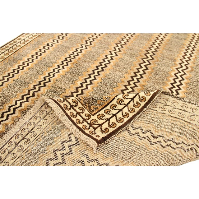 Antique Persian Area Rug Gabbeh Design For Sale - Image 4 of 5
