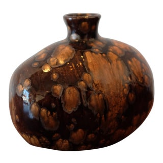 Splatter Glaze Studio Pottery Vessel For Sale
