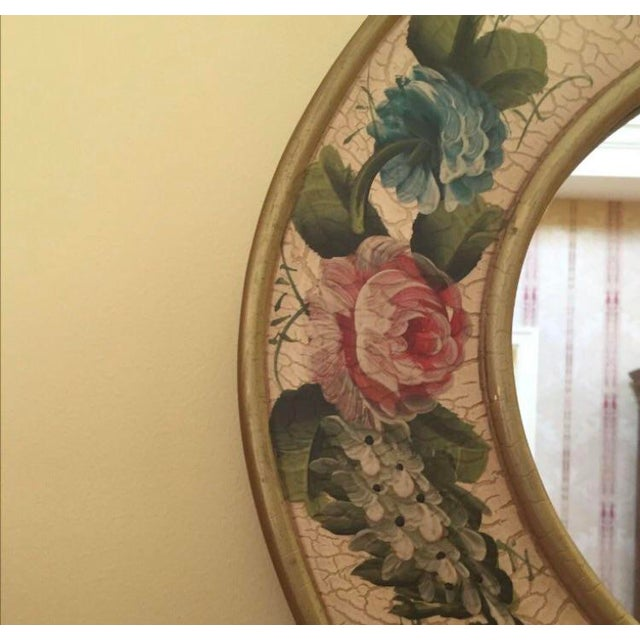 Vintage Hand Painted Crackled Wood Mirror Chairish