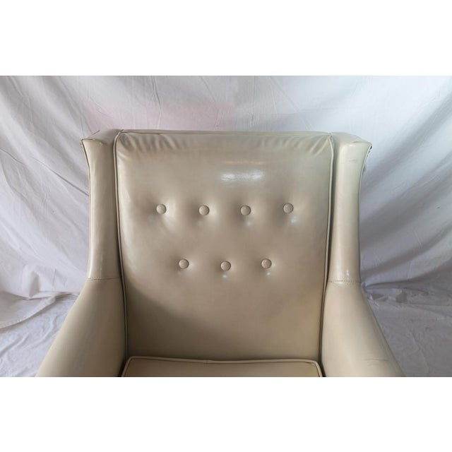 Vintage Tufted Club Chair with Casters For Sale - Image 4 of 8