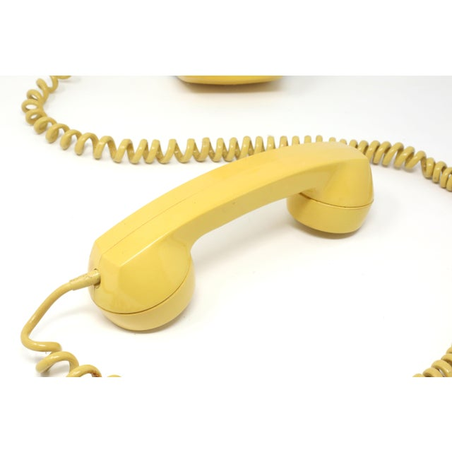 American Vintage 1976 Starlite Yellow Rotary Wall Phone For Sale - Image 3 of 12