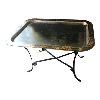19th Century Hand Painted Toleware Tray Table