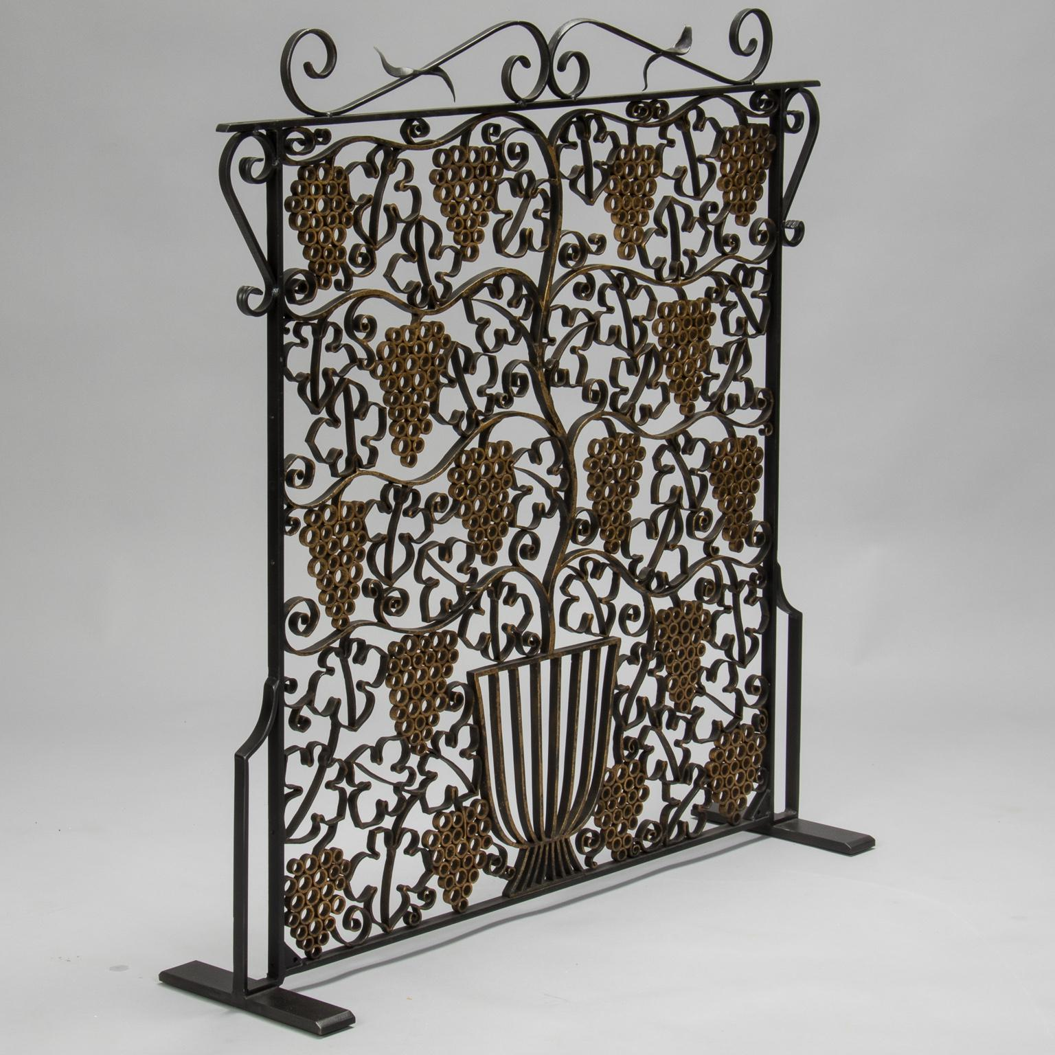 Art deco fireplace screen Cool Fireplace Screen Made From French Art Deco Iron Grill For Sale Image Of Decaso Exquisite Fireplace Screen Made From French Art Deco Iron Grill Decaso