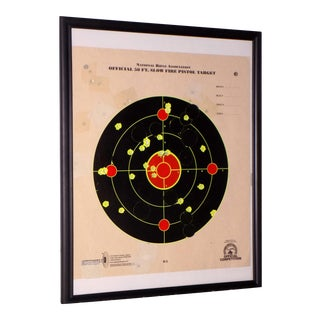 Framed Nra Shooting Target Reclaimed Recycled Wall Art