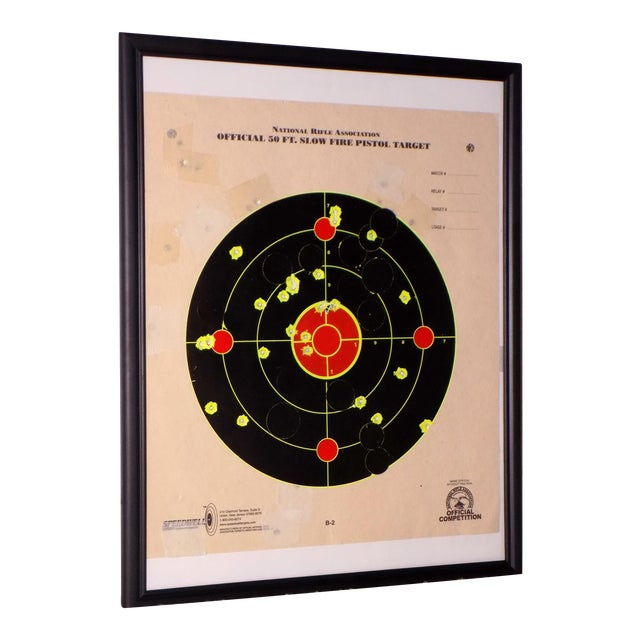 Framed Nra Shooting Target Reclaimed Recycled Wall Art | Chairish