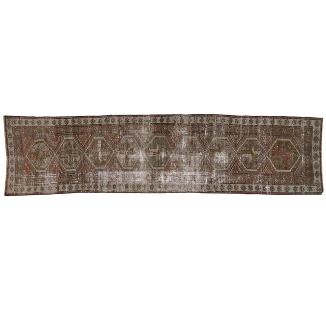 """Vintage Distressed Caucasian Rug Runner - 2'9"""" X 11'1"""" For Sale - Image 13 of 13"""