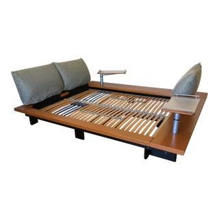 Ligne Roset Peter Maly Modern Wood European Queen Size Platform Bed For Sale