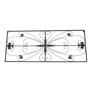 Metal Grille Fleur De Lis Ornamental Panel