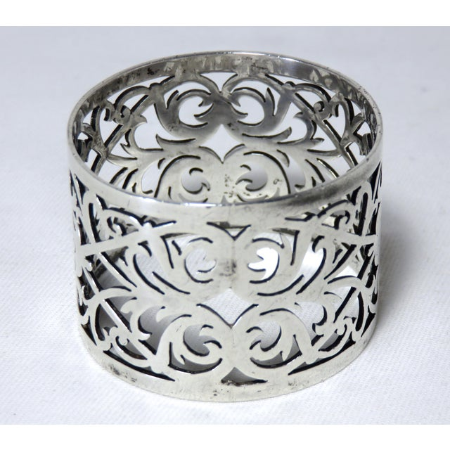 Early 20th Century Antique John Round Sterling Silver Napkin Ring For Sale - Image 4 of 7