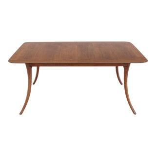 Mid-Century Modern Gibbings Sabre Leg Walnut Dining Table For Sale