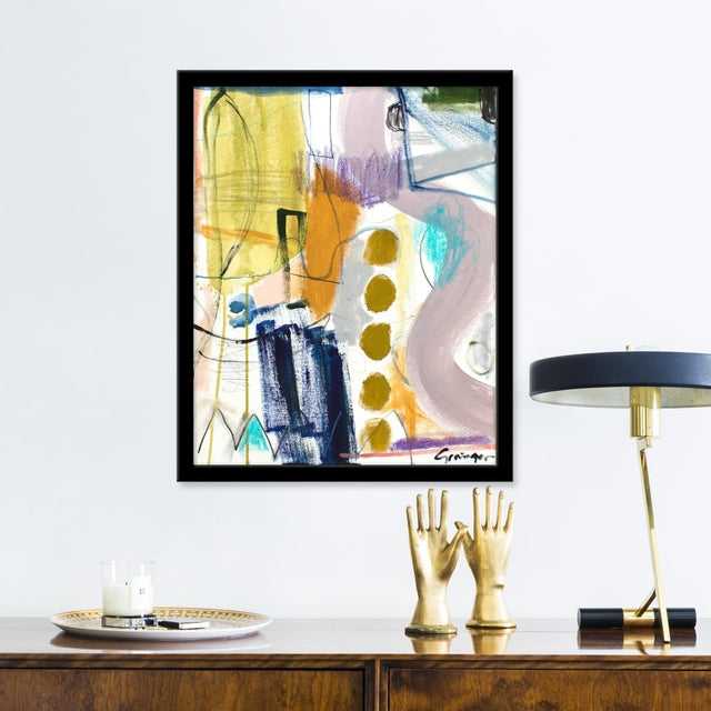 Giclée on textured fine art paper with black frame. Unframed print dimensions: 15.75x19.75. Seeking to create an abstract...