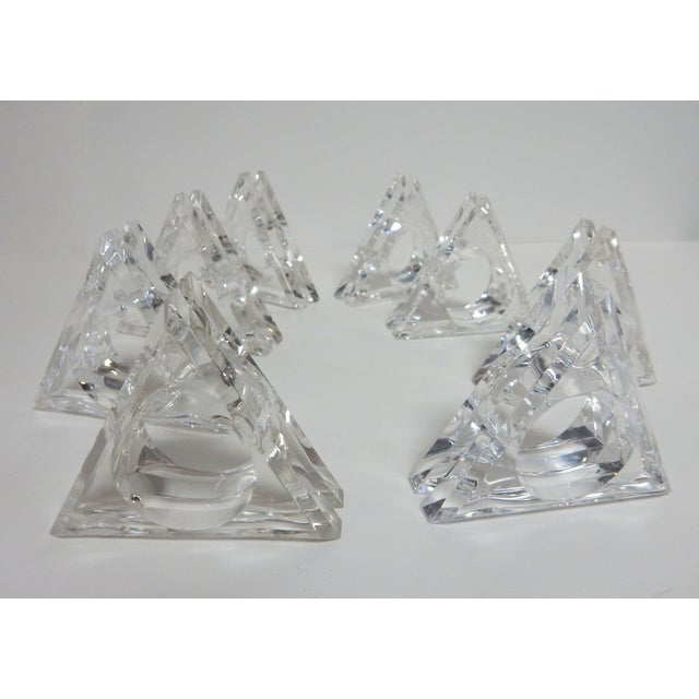 Mid-Century Modern Acrylic Napkin Rings - Set of 8 - Image 4 of 5