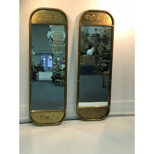 1970s Mastercraft Exceptional Brass Mirrors - a Pair For Sale In Philadelphia - Image 6 of 6
