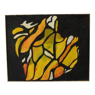 Mid 20th Century Abstract Oil Painting, Framed For Sale
